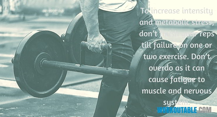 fourth training varible workout muscle failure