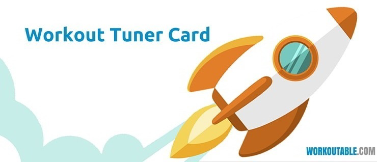 workout tuner card
