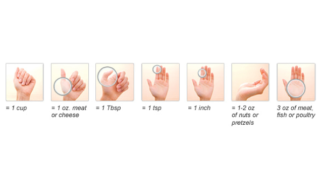 measure your portion size with palm