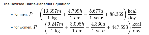 BMR equation revised