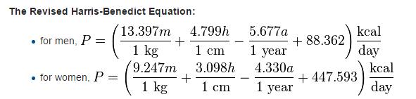 BMR equation revised
