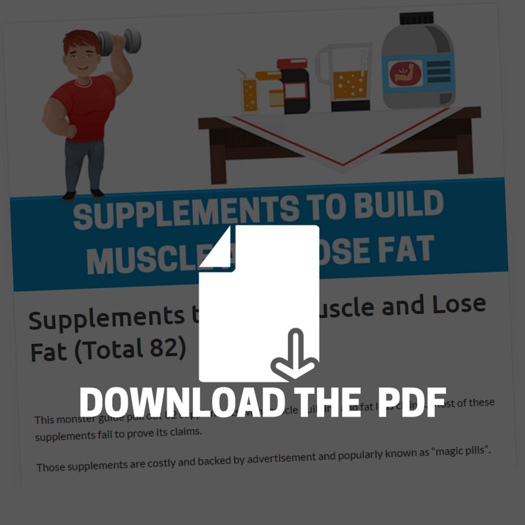 SUPPLEMENTS TO BUILD MUSCLE AND LOSE FAT PDF