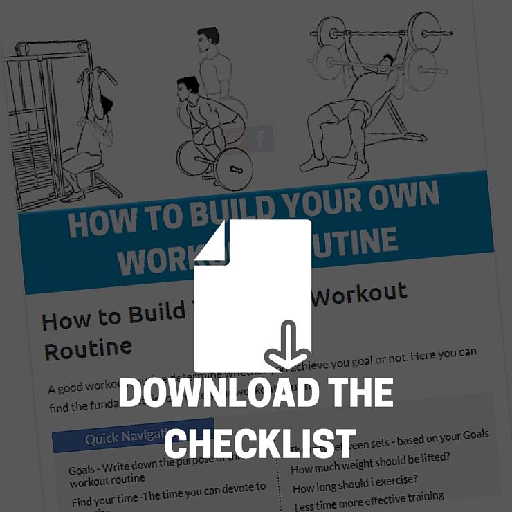 workout routine checklist download