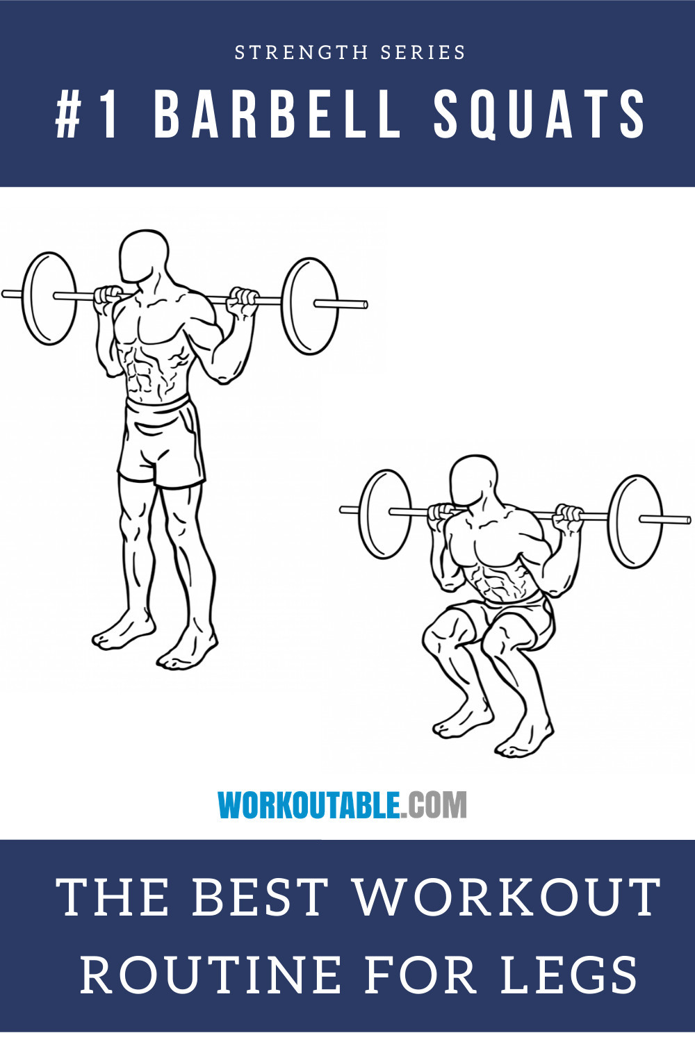 barbell squat best workout routine for legs