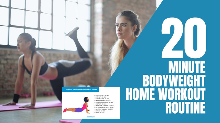 20 Minute Full Body Bodyweight Workout at Home - No Equipment Needed
